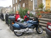Nuala and Adrian on motorbike