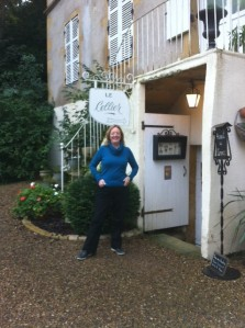 Nuala outside guest house