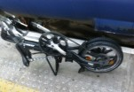 folding bike on station platform