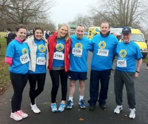 Brian O' Sullivan is missing from the photo as he went on to run the 10k!