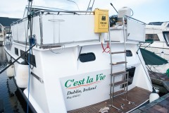 The boat is renamed - C'est la Vie