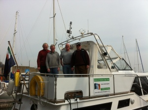 The boys ready to set sail!