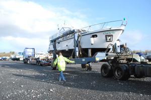 loading boat at Albert Lock