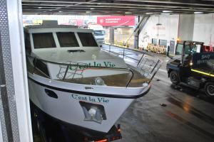 Boat on board P&O Ferry