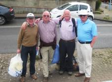 Dover Delivery team before splitting up - note the bags of dirty laundray