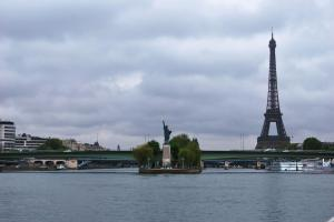 Statue of  Liberty in Paris you can only see it from the water