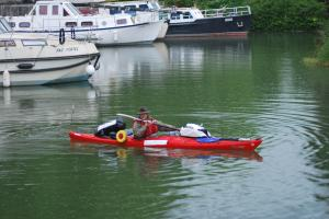 Chris going from Calais to Carcassonne by kayak
