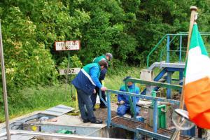 VNF crew repair hinge while we wait