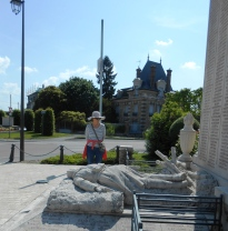 The War memorial in Chateau Thierry