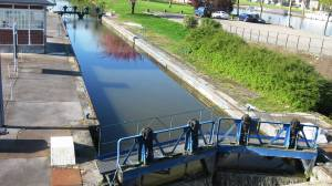 Typical Lock full and both gates closed