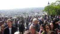 crowds at Sacre Coeur