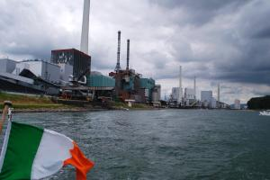 How industrial parts of the Rhine are