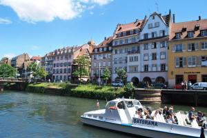 Tourist boat in Petite France Strasbourg