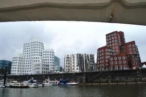 Leaving Dusseldorf- great buildings