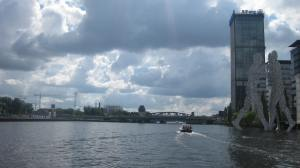 The Spree River leaving Berlin