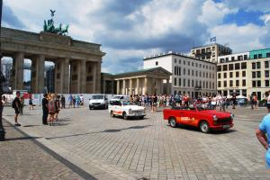 Trabant cars in Pariser Square