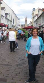 Nuala in the centre of Potsdam - with all the tourists