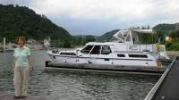 side view of boat at St Goar
