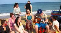 Sing song on Courtown beach