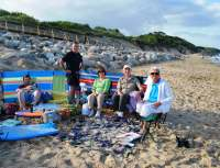 Four generations on the Beach Aine Bernard Kieran and Killian