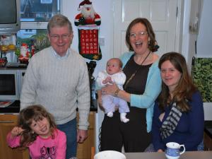 Adrian, Nuala  Louise (daughter)  and grand children Eve and Eamon
