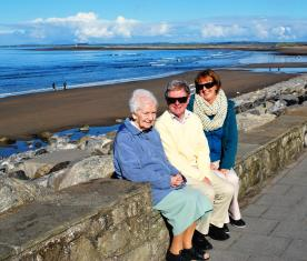 Annie, Adrian, Nuala in Strandhill Sligo