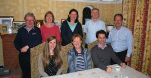 l/r Adrian, Fiona,Liz, Dennis & Richard F/R Michelle, Nuala, Mike- Eric kindly took photo