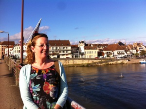 Nuala on a bridge in St Jean taken last year
