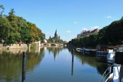 Metz City from the harbour