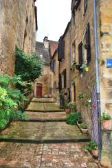 Typical narrow street in Sarlat