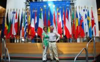 Adrian and Nuala visiting European Parliament in Strasbourg