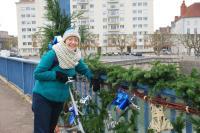 Christmas decorations around Chalon