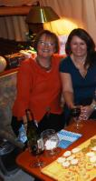 Nuala and Marie Ange with starters