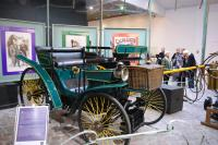 First Peugeot - note cart and horse shafts in backround