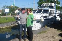 Adrian and Nuala at summit on Canal du Marne a Rhin