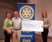 President Andea Molloy give donation towards Gap Year SVP appeal- Adrian Rotary Club
