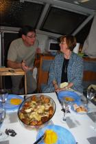 Thierry and Nuala with the main course