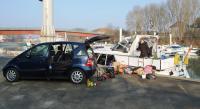 loading the car
