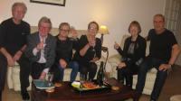 l/r John Marc, Adrian, Marie, Francoise, Nuala, Alain