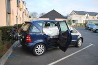 Car outside hotel in Caen