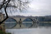 Two of the four remaining arches of Pont D'Avignon
