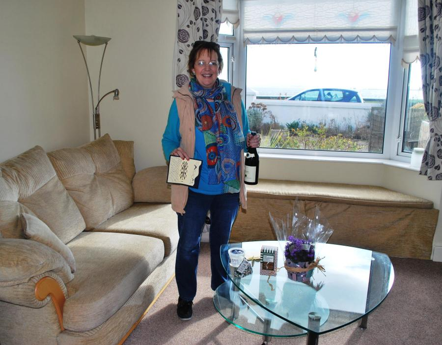 Our Tenants Cait, Paddy and Frankie has left us a thanks you card and presents